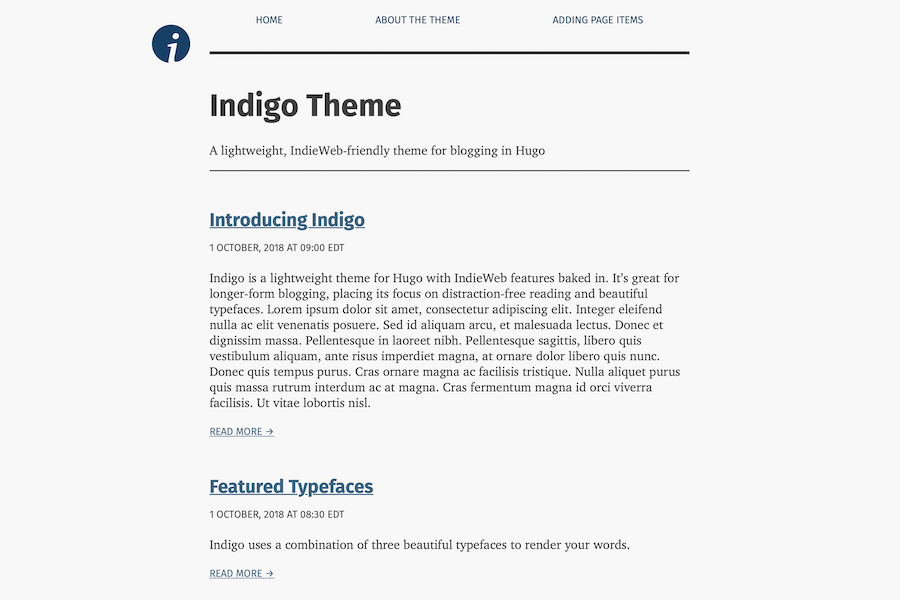 """Screenshot of indigo theme"""
